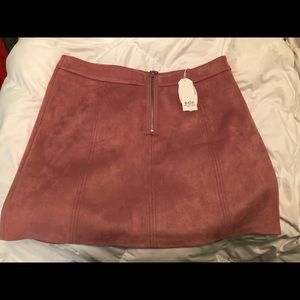 ASOS suede zip up skirt